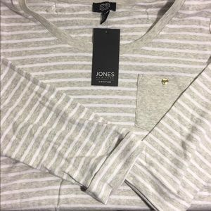 Jones New York Long Sleeve Striped Shirt Sz XL
